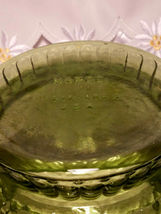 """Vintage NAPCO Cleveland OH Forest Green Rippled Glass Vase / Bowl 5 1/4""""T x 8""""W image 3"""