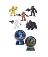 Hasbro STAR WARS MOVIE 5 Action Figures Plus 2 Water Globes -New Collect... - $64.34