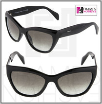 PRADA Poeme Cat Eye PR02QS Shiny Black Gradient Sunglasses 1AB-0A7 Women... - $218.30