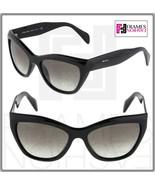 PRADA Poeme Cat Eye PR02QS Shiny Black Gradient Sunglasses 1AB-0A7 Women... - $218.30