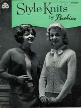 Vintage Beehive 1950s Knit Womens Pullovers Cardigans Sweaters Jackets Patterns - $12.99