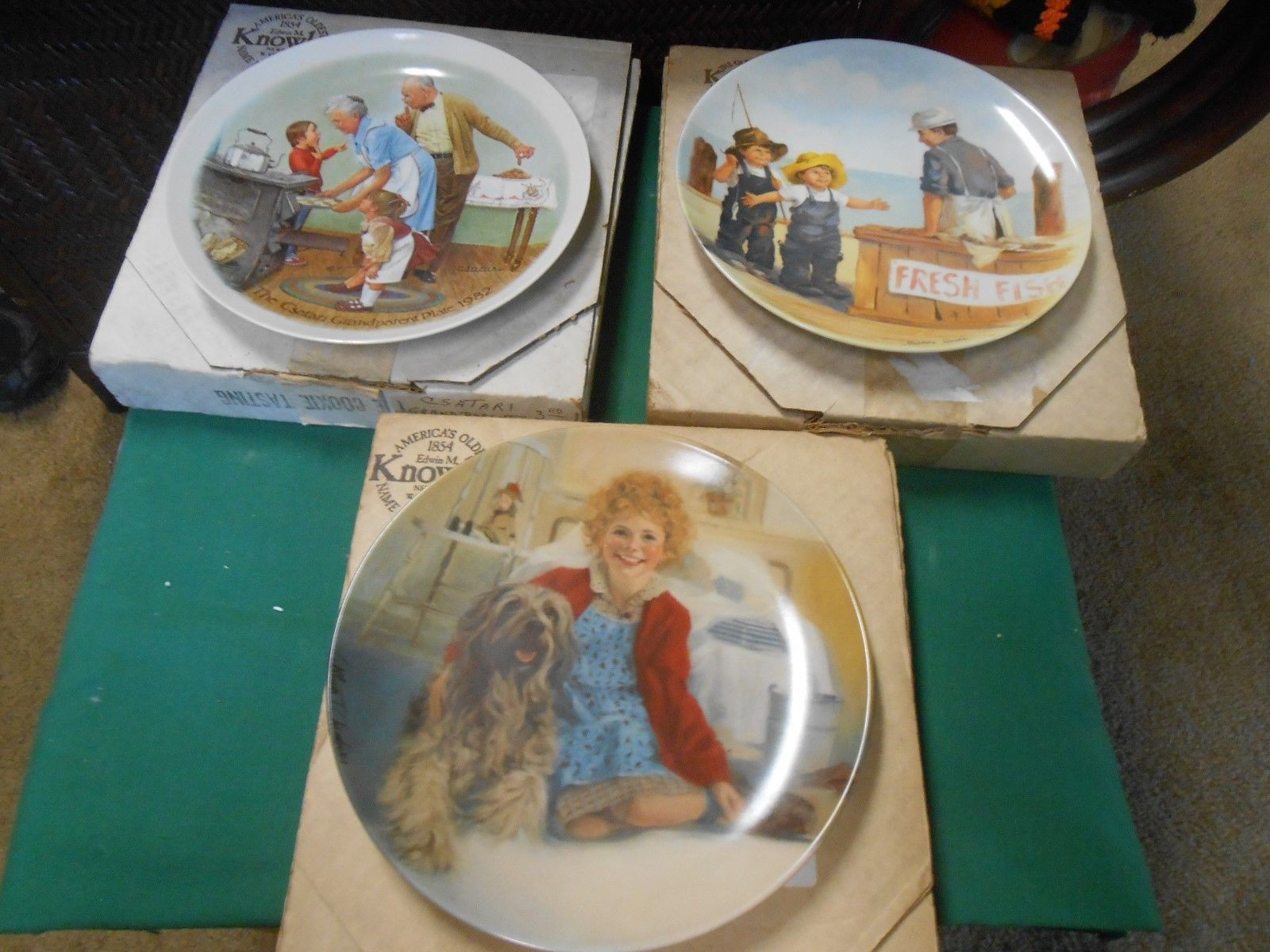 Great Collection 3 KNOWLES Fine China COLLECTOR PLATES with COAs-Boxed