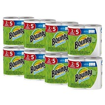 Bounty Quick-Size Paper Towels, White, Family Rolls, 16 Count Equal to 40 Regula