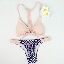 Twisted Strap Women Swimwear Bikini Set - $23.38