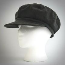 Express Womens Hat Newsboy Gray Denim Cap One Size Cabbie Cotton Cap Floral Line - $24.70