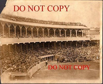 1908 Natl. League playoff game Type 1 photograph Polo Grounds NY Giants Chi Cubs
