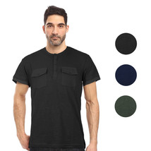 Seven Souls Men's Lightweight Slim Fit Casual Henley Fashion T-Shirt MT16176