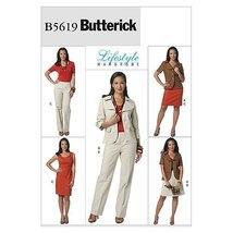 Butterick Patterns B5619 Misses' Jacket, Dress, Skirt and Pants, Size BB... - $10.78