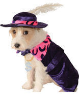 Amazing Purple Pet Dog Costume: Mac 'Sugar' Daddy Flamboyant Cape/Hat, R... - £11.59 GBP