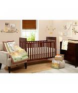 4-Piece Crib Bedding Set Lion King Animals Jungle Yellow Brown Baby Nurs... - $49.32