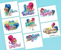 Shimmer and Shine Birthday Party 16 Tattoos Favors - $2.49