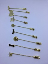 Lot of 9 vintage gold tone stick/hat pins  - $18.00