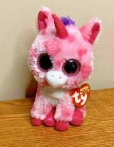 Ty Beanie Boos sugar pie unicorn pink glitter eyes with tags - $7.60