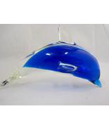 Dolphin Art Glass Handmade Fish Ocean Figurine Paperweight Sun-catcher - $26.75