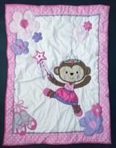 Carter's Child Of Mine Princess Monkey Crib Comforter Blanket Pink Ballerina - $74.24