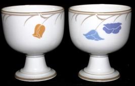 Pair of 2 Dansk Tivoli Belles Fleurs Tulip Taupe 16 Ounce Goblets / Foot... - $14.84