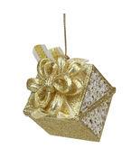 "Seasons Elegance Gold/Silver Glitter Gift Christmas Ornament 3.25"" - tkcc - $23.95"