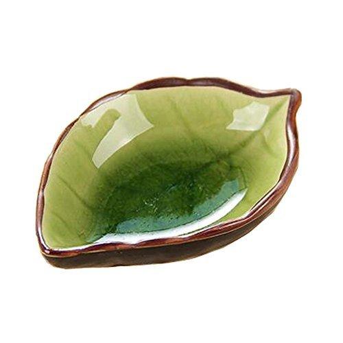 Kylin Express Sets of 4 Ceramic Saucepan Creative Leaf Snack Plate Sauce Dish Mu - $17.06