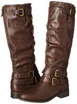 XOXO Women's Maleah Fashion Boot, Dark Brown, 7 M US image 6