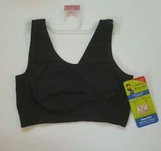 Loving Moments Nursing Sleep Bra Size Large NWT Black Easy Pull Aside Nu... - $13.09
