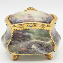 Thomas Kinkade Blessings Porcelin Music Box Find Peace 2003 by Ardleigh ... - $24.74