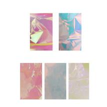 5 Candy Colors Broken Glass Stickers Foils Finger DIY Nail Art Stencil D... - $4.40