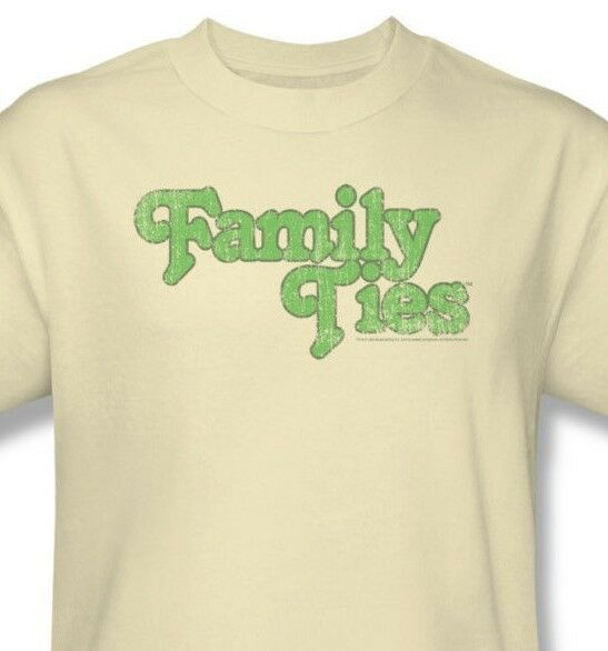 Family Ties T-shirt retro 80's television TV graphic 100% cotton tan tee CBS902
