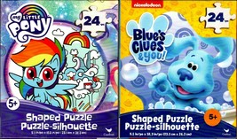 Blue`s Clues & you! and My Little Pony - 24 Shaped Jigsaw Puzzle (Set of 2) - $14.84