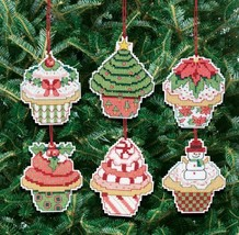 Janlynn 21-1390 Christmas Cupcake Ornaments Counted Cross Stitch Kit - $20.99