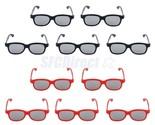 10 PRS Passive 3D Glasses 5 Adults 5 Kids CPL for LG Panasonic Sony TVs Monitor