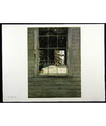 Andrew Wyeth Gravure Print GERANIUMS & DOWN SPOUT, Olson's - $24.74