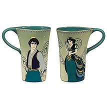 Disney Aladdin & Jasmine Set of 2 Gold Rimmed Ceramic Mug Set - $29.69