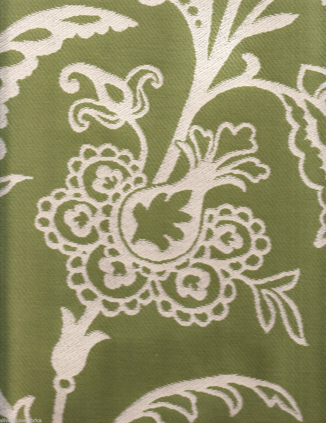 7.5 yds Highland Court Upholstery Fabric Cortland Large Floral Mint Green DL1