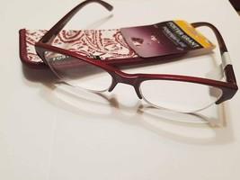 Foster Grant Women's Marta Wine Reading Glasses & Case +1.25 - $10.00