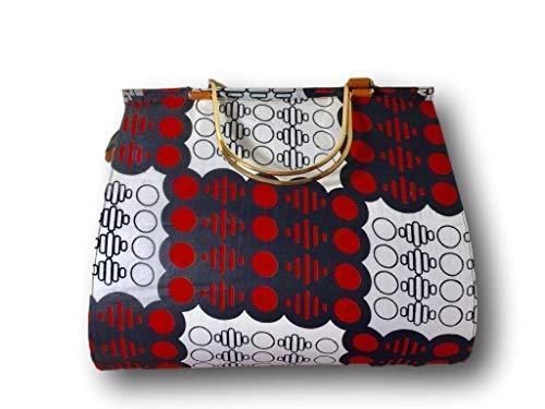 Primary image for Large African Fabric Tote Bag (Red/White)