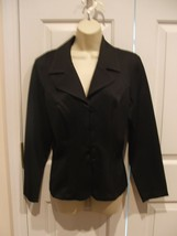 New in Pkg Frederick's Of Hollywood Black Fitted Jacket Made in USA SIZE 9/10 - $34.64