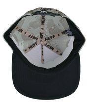 Neff Men's Desert Storm Camo Thunderbolt Mesh Snapback Baseball Hat Cap NWT image 7