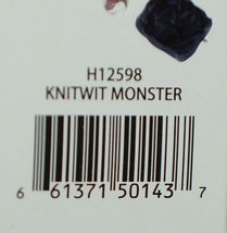 GANZ Brand H12598 Pink Multi color Striped Knit Wit Monster image 7