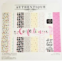 """Authentique Paper """"Confection"""" 6x6 Paper Pad - 21 Double-Sided Pages - Retired"""