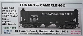 "F&C HO  C&O 50 Ton H5-27 "" baby "" tripple Hopper Kit 8420 image 1"
