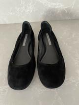 Vera Wang Lavender Women's Ballet Flats Black Suede 8.5 Runs Long Fits 9 - $5.93