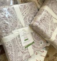 Pottery Barn Vanessa Duvet Cover Set Lavender King 2 King Shams Paisley ... - $228.00