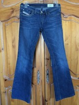 DIESEL LOWKY B.C 008BB STRETCH MED WASH DENIM FLARE JEANS 25x29 MADE IN ... - $21.16