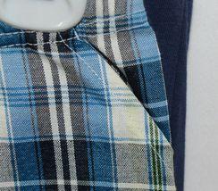 Little Rebels SK8 Club Polo Shirt Short Set Blue Plaid Size 12 Months image 5