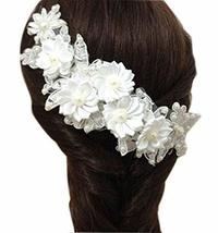 Beautiful Flower Fashion Bridal Hair Pin/Hair Clip, White