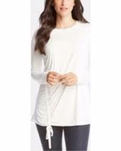 Karen Kane Top Blouse Cream Ivory Side Drawstring Tunic Sz XS NEW NWT 230 - $33.82
