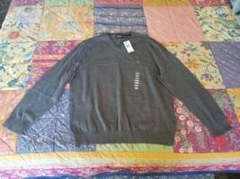 NEW XL 100% Cotton NAUTICA Mens V-Neck Sweater Grey 100% Cotton - $10.00