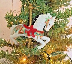 Tobin Fraley Carousel Horse  Hallmark Keepsake Ornament/Figurine Dated 1... - $15.33