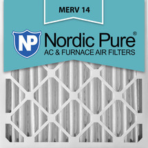 Nordic Pure 20x25x4 (3 5/8) Pleated MERV 14 Air Filters 2 Pack - $75.28