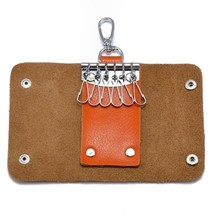 BDF Small Genuine Leather Key Wallet Purse Unisex Key Buckle Wallet Orga... - $27.11